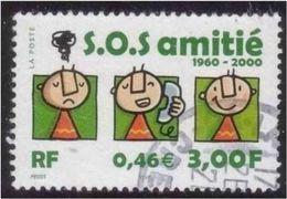3356 - 2000 - 40ème Anniversaire De SOS Amitié - Cachet Tond - France