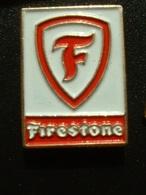 PIN'S PNEU FIRESTONE - LOGO FOND BLANC - Badges