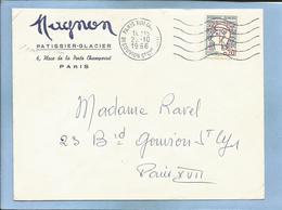 Magnon Pâtissier-Glacier 6 Place De La Porte Champerret Paris  22-10-1966 2scans Ravel Judaïca - 1961-....
