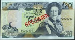JERSEY - 20 Pounds Nd.(2000) SPECIMEN {sign. Ian Black} UNC P.29 S - Jersey
