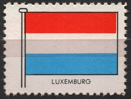 Luxembourg Luxemburg - FLAG FLAGS / Cinderella Label Vignette - Germany Ed. 1950's - Private