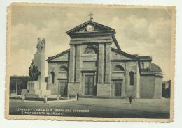 LIVORNO - CHIESA DI S.MARIA DEL SOCCORSO E MONUM. AI CADUTI   VIAGGIATA FG - Livorno