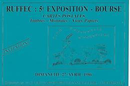 RUFFEC: 5° BOURSE. Carte Postale . 1986 - Bourses & Salons De Collections