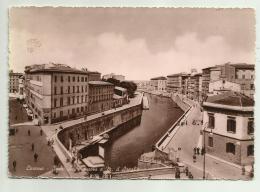 LIVORNO - SCALI A. MANZONI E M.D'AZEGLIO   VIAGGIATA FG - Livorno