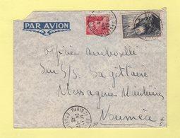 Par Avion Destination Noumea - Pour Le SS Sagitaire Des Messageries Maritimes - 24-12-1946 - Posta Aerea