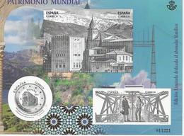 Spain 2017 - Patrimonio Mundial Black Proof - Edicion Limitada - Small Crease Look At The Scanner - Proeven & Herdrukken