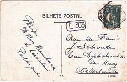 Portugal Postcard To Den Haag -32C Ceres - Cliche I. - 1910-... République