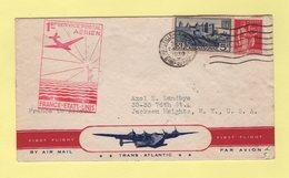 1er Service Postal Aerien France Etats Unis - Marseille 24-5-1930 - Marcophilie (Lettres)