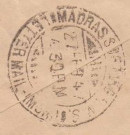 'MADRAS MAIL SORTING...' PM 1944 British India To Burma Airmail Cover - 1936-47 Roi Georges VI