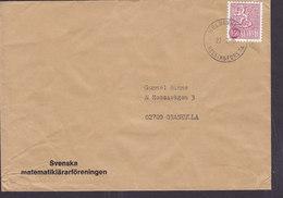Finland SVENSKA MATEMATIKLÄRARFÖRENINGEN, HELSINKI Helsingfors 1975 Cover Brief GRANKULLA Sweden - Briefe U. Dokumente