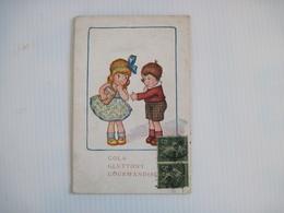 CPA  2 Enfants Garçon Et Fille GOLA  GLUTTONY  GOURMANDISE (pot De MIELE) 19..  T.B.E - Illustratoren & Fotografen