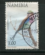 NAMIBIE- Y&T N°828- Oblitéré (oiseau) - Namibie (1990- ...)