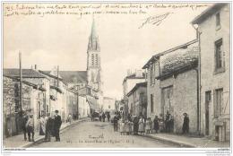 52 - EURVILLE - La Grand Rue Et L Eglise (belle Animation) - Francia