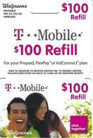 T Mobile Wireless Refill Card - Walgreens - Télécartes
