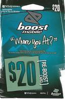 Boost Mobile (Re-Boost Card) - Walgreens - Télécartes