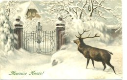 HEUREUSE ANNEE With DEER AND GATES - MM VIENNE L1 - New Year