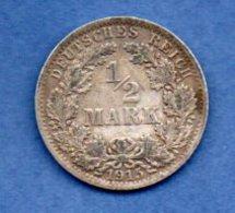 Allemagne  -  1/2 Mark 1915 A -  Km # 17   -  état  TTB - [ 2] 1871-1918 : Empire Allemand