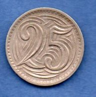 Tchécoslovaquie -  25 Haleru 1933 -  Km # 16   -  état  TTB+ - Czechoslovakia