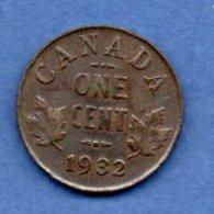 Canada -  1 Cent 1932 -  Km # 28   -  état  TTB - Canada