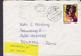 Poland GDANSK 1984 Cover Brief ALLERØD (Arr. Cds.) REadressed HUMLEBÆK Denmark - 1944-.... Republik