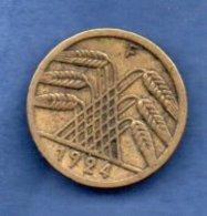 Allemagne-  5 Rentenpfennig 1924 F -  Km # 32   -  état  TB+ - [ 3] 1918-1933 : Republique De Weimar