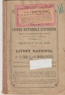 CAISSE NATIONALE D'ÉPARGNE - LIVRET NATIONAL - NEUILLY - DÉPARTEMENT DE LA SEINE - 1932 - Historical Documents