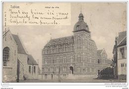 TUBIZE ..-- Brt Wall . Nels 110 , N° 7 . Hôtel De Ville . 1904 Vers SOUVRET ( Mr Mme Octave GUILLAIN ) . Voir Verso . - Tubize