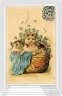 CATS - CHATS Carte Gaufree - Panier - Chats