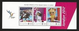 Londen 2012 Olympics S/Sheet From St Kitts With Gold Medal Winners Bo Bae Ki,Svetlana Romashina And Charlotte Dujardin. - Sommer 2012: London