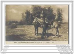 Salon De Paris 1910 - E. BERNE-BELLECOUR - En Selle (Dragons ? Cavaliers Avec Cuirasse) - Peintures & Tableaux