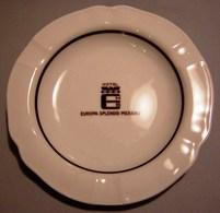 014 POSACENERE PORCELLANA RICHARD GINORI HOTEL EUROPA SPLENDID MERANO Posacenere Rotondo (diametro Cm 14,5). Decorato Co - Porcellana