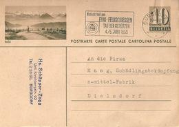 "PK 182  ""Rigi""  (Flagge: Eidg.Feldschiessen)             1955 - Interi Postali"