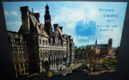 Carte Postale - Paris, L'Hôtel-de-Ville Et Notre-Dame - Jacques Chirac 10e Maire De Paris - People