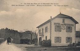 H144 - 74 - Le Val Du Fier Près De SEYSSEL - Haute-Savoie - Hôtel Des Pêcheurs - Café Janin - Vin Blanc De Seyssel - Autres Communes