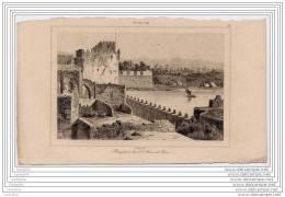 TURQUEY TURQUIE - Engraving 19th Century - Remparts De Saint Jean D Acre - Estampes & Gravures
