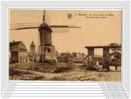 KNOCKE - Le Vieux Moulin A Vent Et L Eglise - De Oude Molen En Kerk - Knokke