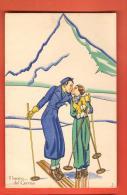 DA07-04  Illustratore Italiano, Il Bacino Del Cervinio. Matterhorn. Ski. Editore A. Diena Torino. 12 - 1900-1949