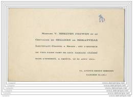 Mariage De Mme Moreton Frewen Et Le Chevalier De Selliers De Moranville Lieutenant Colonel A Shape - Geneve Suise 1951 - Announcements