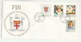 1982 FIJI  FDC Stamps PRINCESS DIANA BIRTHDAY HERALDIC LION  TREE Cover Royalty - Fiji (1970-...)