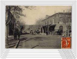 ALGERIE - BATNA - L Avenue De La Republique Et L Hotel Des Etrangers (attelage, Auto) - Batna