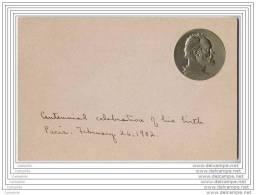 Carte Du Centenaire De La Naissance De Victor Hugo, Avec Buste Gaufre En Medaillon 1902 - Ecrivains