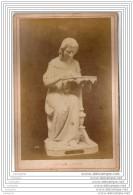 Exposition Universelle De 1878 A Paris - Photo Sur Carton - Sculpture - L Ecrivain - Italie Italia - Photos