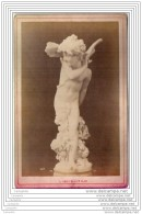 Exposition Universelle De 1878 A Paris - Photo Sur Carton - Sculpture De L Amour Ange - Italie Italia - Old (before 1900)