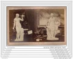 Exposition Universelle De 1878 A Paris - Photo Sur Carton - Statues De Psyche - Russie Russia - Fotos