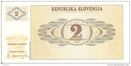 SLOVENIE 2 TOLARJEV 1990 UNC P 2 - Slovénie