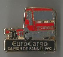 Pin's Eurocargo Camion De L'année° - Transportation