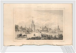 RUSSIA RUSSIE - Moscou Moscowa - La Porte Sainte (Holy Door) - Real Engraving 19th Century - Stampe & Incisioni