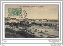 SENEGAL - DAKAR - Travaux Du Port De Commerce (train + Locomotives) - Sénégal