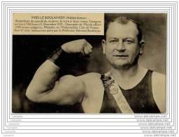 Yves Le Boulanger Athlete Lutteur - Champion Du Monde 1920 - Medaille De L Halterophilie Club De France - Haltérophilie