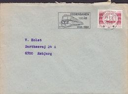 Denmark Slogan Flamme 'Odderbanen 100 år' ODDER 1984 Cover Brief Train Zug Chemin (Cz. Slania) Stamp - Briefe U. Dokumente